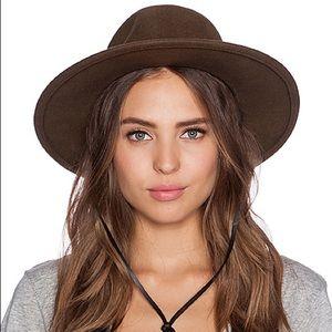 NWOT POLER💕Rod Felt Round Wide Brim Maroon Hat